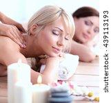 two young beautiful women... | Shutterstock . vector #439113193