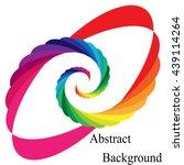 rainbow colored spirals... | Shutterstock .eps vector #439114264