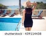 young fashionable woman...   Shutterstock . vector #439114438