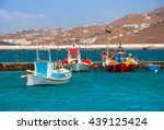 boats in the sea bay near the... | Shutterstock . vector #439125424