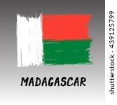 flag of madagascar    grunge | Shutterstock .eps vector #439125799