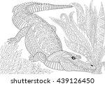 zentangle stylized cartoon...   Shutterstock .eps vector #439126450