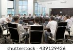meeting and discussion briefing.... | Shutterstock . vector #439129426