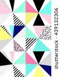 vector seamless geometric... | Shutterstock .eps vector #439132306