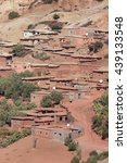 Small photo of Traditionally built adobe house in the village in the Atlas Mountains, Morocco