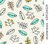 floral seamless pattern in...   Shutterstock .eps vector #439134229