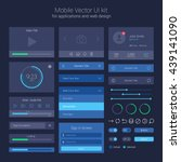 user interface kit  ui elements ... | Shutterstock .eps vector #439141090