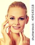 portrait of beautiful topless... | Shutterstock . vector #439143118