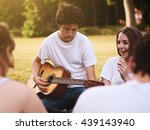 large group of friends together ... | Shutterstock . vector #439143940