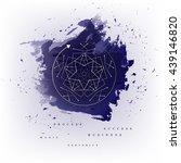 circular geometric magic...   Shutterstock .eps vector #439146820