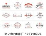 set of vector car rental... | Shutterstock .eps vector #439148308