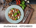 whole grain pasta with cheese ... | Shutterstock . vector #439148803