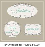 wedding invitation card. vector ... | Shutterstock .eps vector #439154104