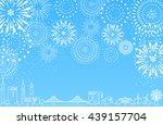 firework over the city | Shutterstock .eps vector #439157704