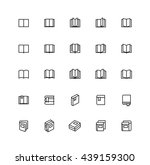 open book outline icons...