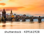 prague  charles bridge and old... | Shutterstock . vector #439161928
