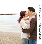 beautiful young couple hugging...   Shutterstock . vector #439164514