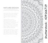 vector nature decor for your... | Shutterstock .eps vector #439166719