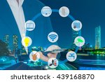 smart building and internet of... | Shutterstock . vector #439168870
