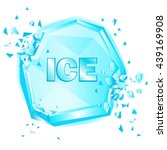 abstract illustration ice on...