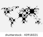 world map made with stars | Shutterstock .eps vector #43918321