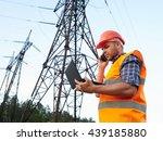 electrical engineer working.... | Shutterstock . vector #439185880