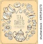 tea ceremony vector...   Shutterstock .eps vector #439191073