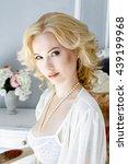 portrait of beautiful lady in... | Shutterstock . vector #439199968