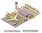 vector isometric infographic... | Shutterstock .eps vector #439205008