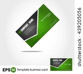 abstract green business card  | Shutterstock .eps vector #439205056