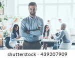 leading my team to success ... | Shutterstock . vector #439207909