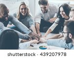 we are the great team  group of ... | Shutterstock . vector #439207978