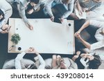 teamwork in action. directly... | Shutterstock . vector #439208014
