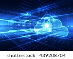 abstract cloud technology in... | Shutterstock .eps vector #439208704