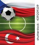 vector of green soccer filed... | Shutterstock .eps vector #439209109