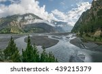 mountain view from annapurna... | Shutterstock . vector #439215379
