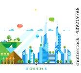 flat design urban landscape... | Shutterstock .eps vector #439219768