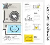 business brochure flyer design... | Shutterstock .eps vector #439221253