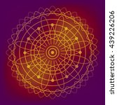 sacred geometry vector round...   Shutterstock .eps vector #439226206