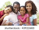 family enjoying day in park | Shutterstock . vector #43922683
