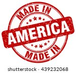 Постер, плакат: made in America red