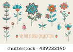vector floral collection with... | Shutterstock .eps vector #439233190