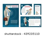 businessman talking on mobile.... | Shutterstock .eps vector #439235110