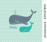 Illustration With Whales For...