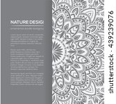 vector nature decor for your... | Shutterstock .eps vector #439239076