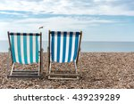 beach chairs by the sea    Shutterstock . vector #439239289