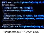 programming code   blue color ...   Shutterstock . vector #439241233