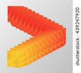 polygonal logo vector shape... | Shutterstock .eps vector #439247920