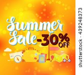 summer sale 30 off lettering... | Shutterstock .eps vector #439248373