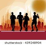 marathon runners  sport... | Shutterstock . vector #439248904